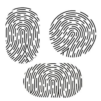 Set di impronte digitali diverse