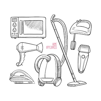 Set di diversi elettrodomestici.