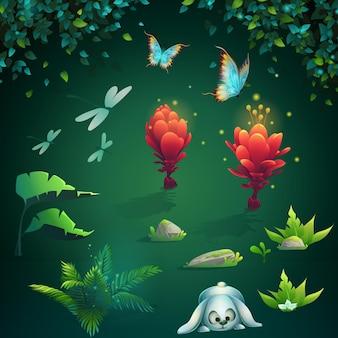 Set di immagini diverse per l'interfaccia utente del gioco