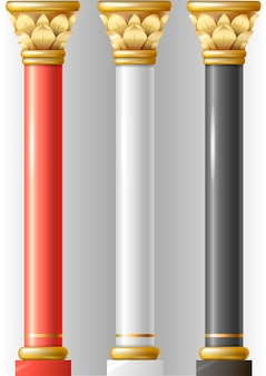 Set di diverse colonne di lusso