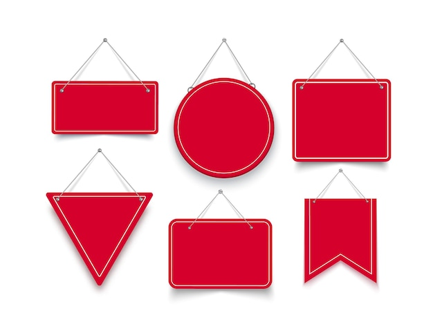 Set di cartelli di forma diversa