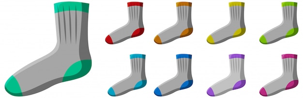 Set di calzini diversi