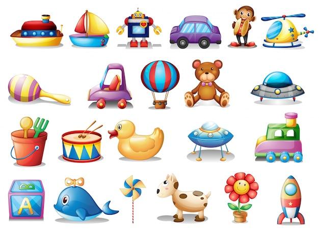 Set di giocattoli diversi