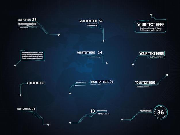 Impostare callout digitali layout delle note a piè di pagina per collegamenti e fonte di informazioni digitali per la pubblicità