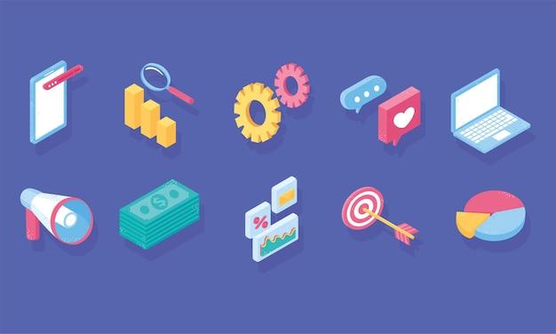 Imposta social media di marketing digitale