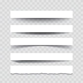 Set di divisori isolato su trasparente