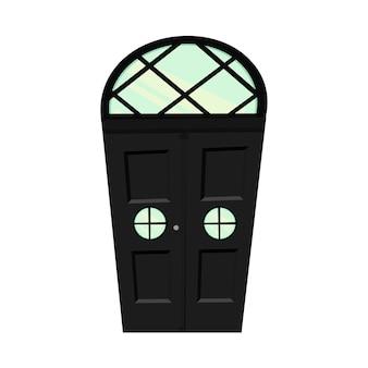 Set di porte su sfondo bianco per la costruzione e il design. stile cartone animato. illustrazione vettoriale.