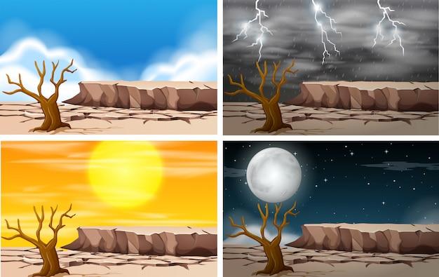 Set di paesaggio della terraferma