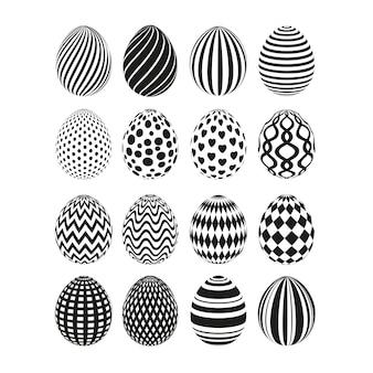 Impostare le uova di pasqua colorate. ornamento felice delle uova di pasqua.
