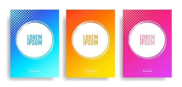 Set di modello di banner quadrato minimo modificabile. adatto per post sui social network e su internet e su internet. illustrazione.