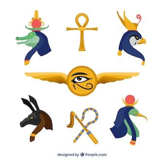 Set di divinità e simboli egiziano
