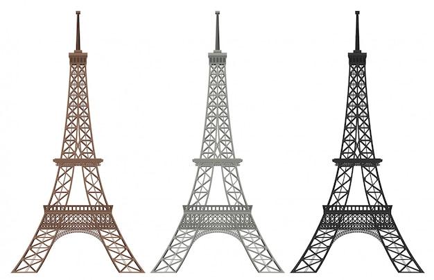 Un set di torre eiffel