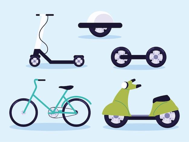 Set di scooter elettrico