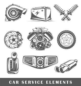 Insieme di elementi del servizio auto