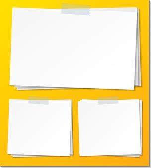 Set di modello di carta vuota nota adesiva