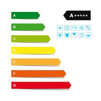 Set di etichette di energia.