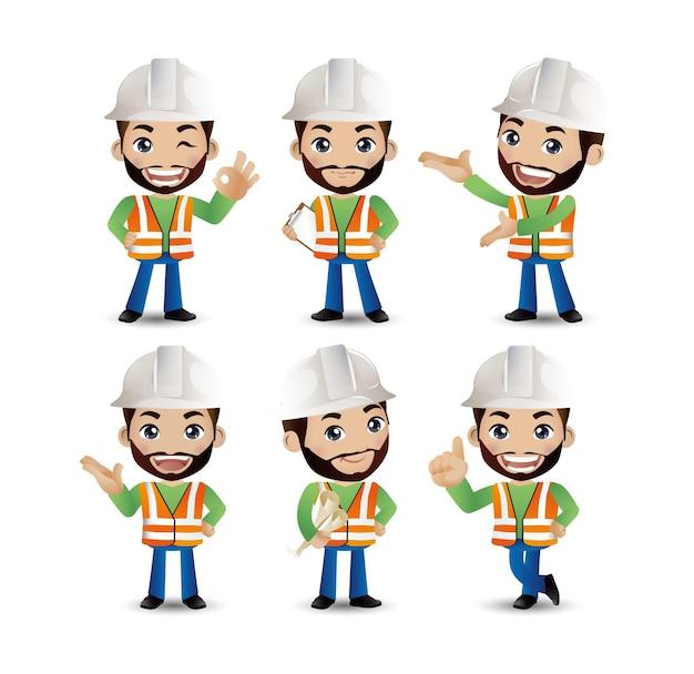 Set di ingegnere, operaio