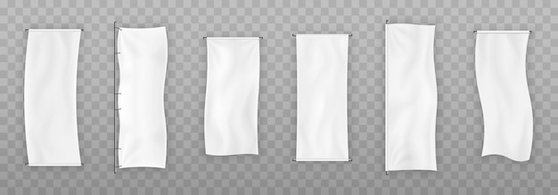 Imposta banner in tessuto.