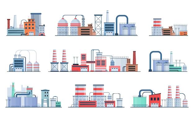 Set di stile di fabbrica o edificio industriale