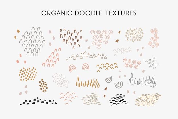 Set di texture organiche astratte disegnate a mano fantasia