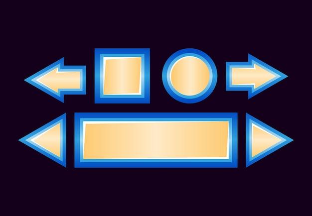Set di pulsante dell'interfaccia utente di gioco lucido di fantasia