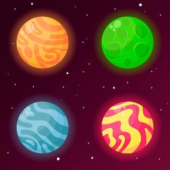 Un insieme di pianeti fantasy per la progettazione di giochi e applicazioni. gui.