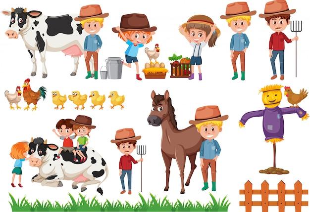 Set di elementi del contadino