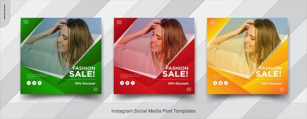 Set di fashion-insta post social media design modello post