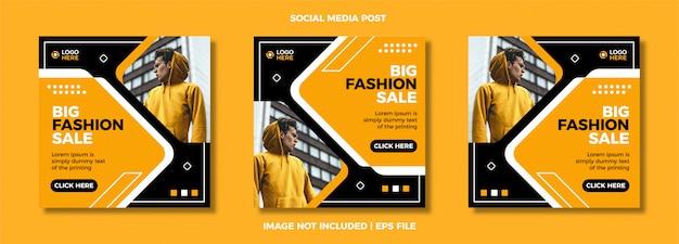 Set di moda social media post modello.