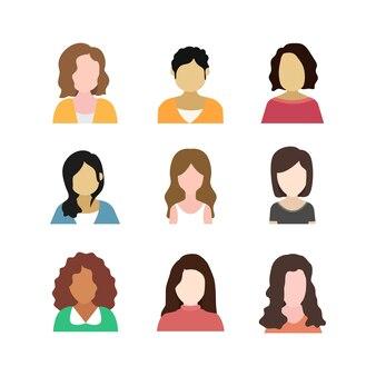 Set di avatar femminili