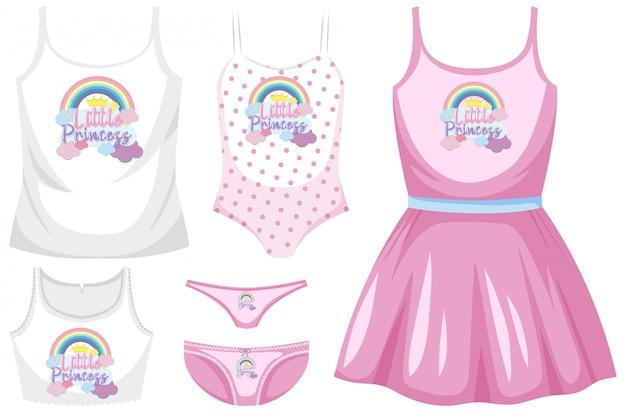 Set di costume da bagno femminile
