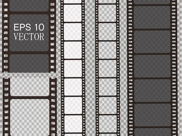 Set di strisce di pellicola isolato Vettore Premium