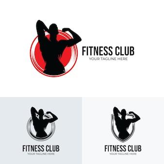 Set di ispirazione per il design del logo fitness