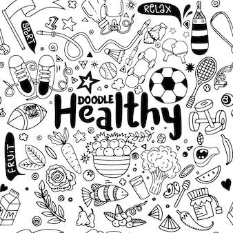 Set di segno di fitness e sport