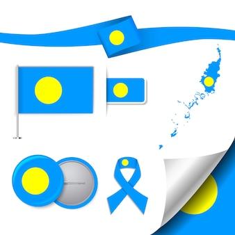 Set di bandiera con elementi palau