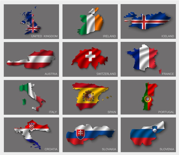 Set di bandiere.