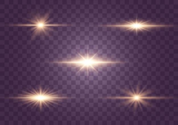 Set di lampi, luci e scintillii