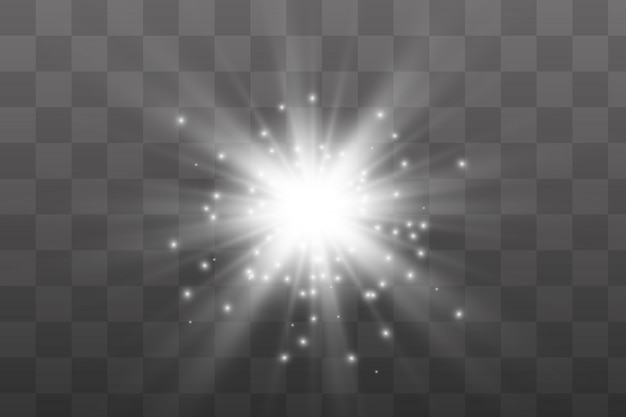 Serie di lampi, luci e scintille