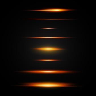 Set di flash al neon ottico