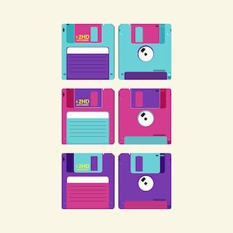 Imposta floppy disk. dischetto