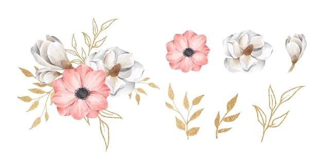 Set di ramo floreale.