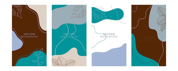 Set di modelli artistici universali floreali con colore pastello oro blu. ottimo per biglietti di auguri, inviti, volantini e altri progetti grafici. biglietto di auguri floreale quadrato
