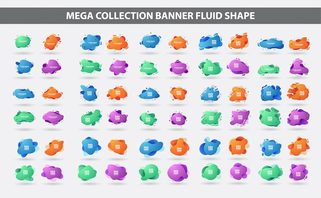 Set di forma geometrica gradiente fluido