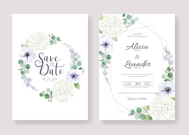 Imposta invito a nozze, salva il modello di scheda data.