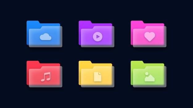 Set di icone di cartelle