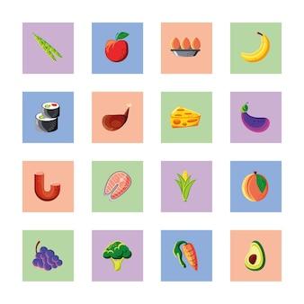 Impostare gli ingredienti di prodotti alimentari freschi