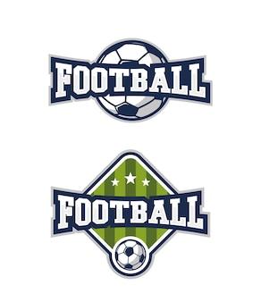 Set di badge di calcio.