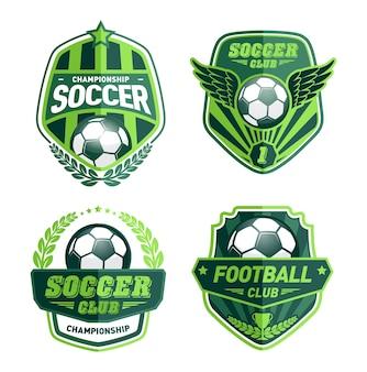 Set di modelli di progettazione logo di calcio