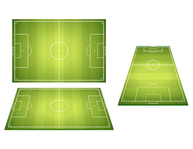 Set di campi da calcio di calcio