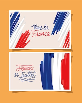 Set di cartoline per l'indipendenza della francia